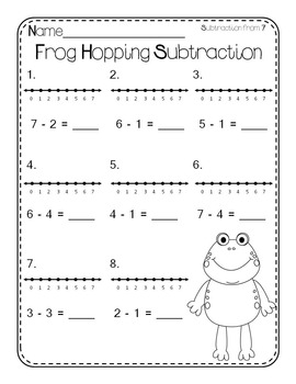 Frog Hopping Number Line Mimio Set