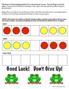 Frog Hopping Puzzle! - Early Finishers