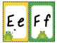 Frog Individual Alphabet and Number Signs