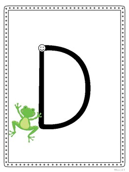 Frog Jump Capitals - Handwriting Without Tears Style