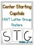 Center Starting Capitals - Handwriting Without Tears Style
