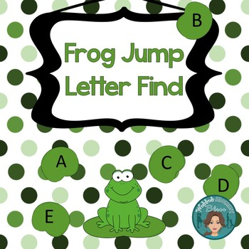 Letter Recognition UPPERCASE/Capitals Frog Jump Letter Find w/ bonus number find