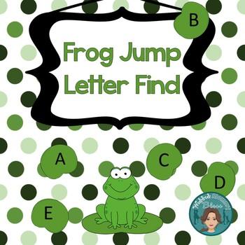 Letter Recognition UPPERCASE/Capitals Frog Jump Letter Fin