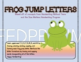 Frog Jump Letters Handwriting Packet
