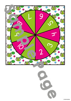 Frog Jump - Math Print and Play Center Game