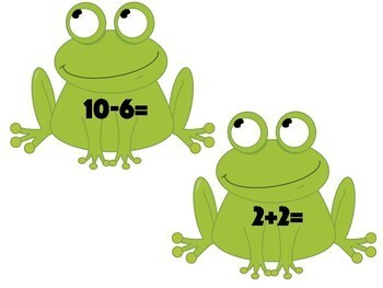 Frog Jump Sums to 25 - Addition, Subtraction & Times Tables