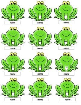 Frog Labels