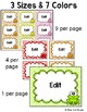 Frog Theme Labels