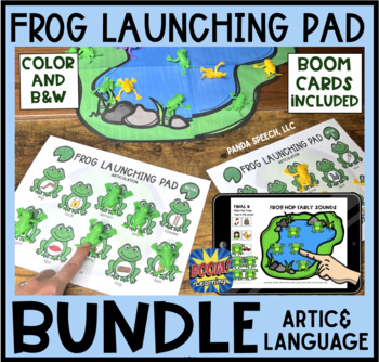 Frog Launching Pad Toy Companion BUNDLE: Articulation and Language Activity