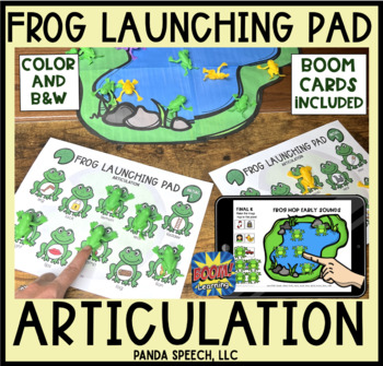 Frog Launching Pad for Speech Therapy (Articulation)