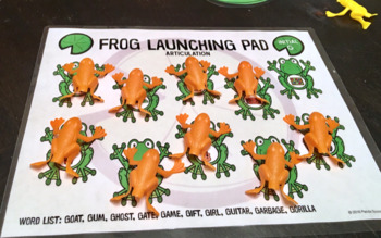 Frog Launching Pad Toy Companion for Speech Therapy FREEBIE (Articulation)