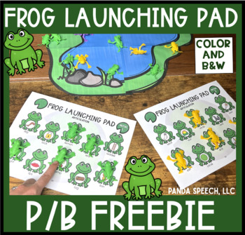 Frog Launching Pad for Speech Therapy FREEBIE (Articulation)