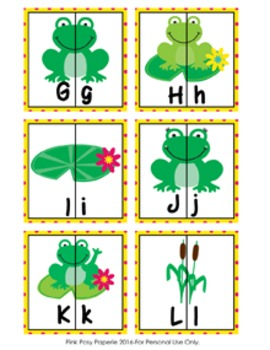 Frog Letter Match Puzzles