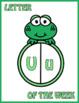 Frog Letter of the Week Posters; Kindergarten; Preschool; Literacy; Letters