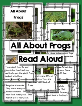 Frog Life Cycle Activities