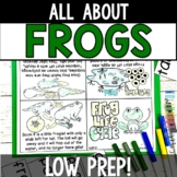 Frog Life Cycle Activities: No Prep Mobile and Foldable