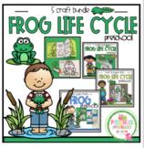 Frog Life Cycle 5 Craft Bundle