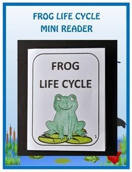 Frog Life Cycle Activities (Mini Reader, Flip Book & Handout)