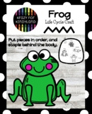 Frog Life Cycle Activity with Frog Craft for Spring Science Center