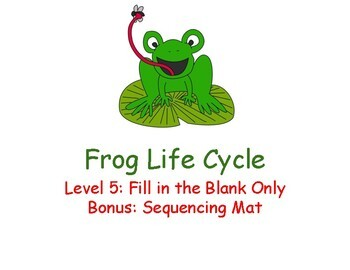 Frog Life Cycle Adapted Book Level 5