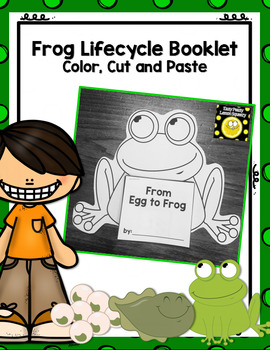 Frog Life Cycle Booklet- Color, Cut and Paste
