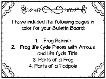 Frog Life Cycle Bulletin Board Set with Recording Sheets : Spring Activities