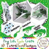 Frog Life Cycle Craftivity – 3D TetraHexaFlexagon Kaleidocycle (Science Lesson)