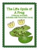 Frog Life Cycle - Differentiated - Sequencing, Writing, Math Centers