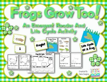 Frog Life Cycle Emergent Reader and Activity #kinderfriendswinter