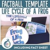 Frog Life Cycle Factball and Comprehension Sheet