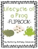Frog Life Cycle Flip Book - NO CUT