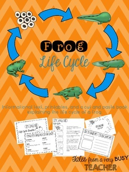 Frog Life Cycle {Informational Text, Printables, Cut & Pas