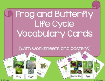 Frog and Butterfly Life Cycles Packet (with Bonus Posters and Worksheets!)