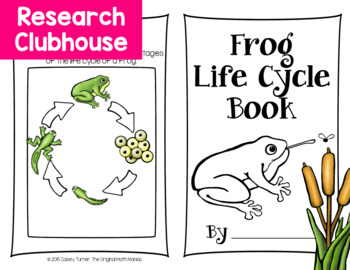 Frog Life Cycle Research Book