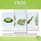 Frog Life Cycle Sequencing Cards and Posters