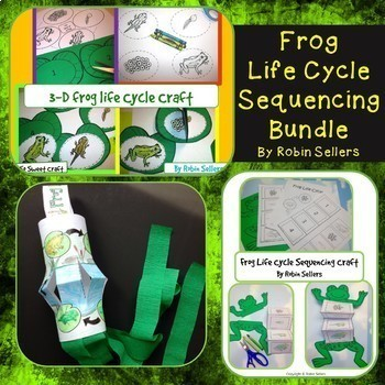 Frog Life Cycle Sequencing Craft Bundle