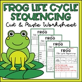 Frog Life Cycle Activity Sequencing & Writing Worksheets Differentiated
