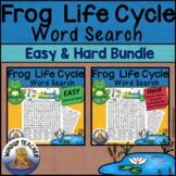 Frog Life Cycle Word Search BUNDLE