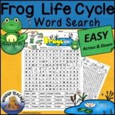 Frog Life Cycle Word Search EASY Puzzle