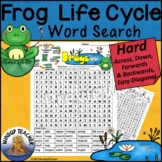 Frog Life Cycle Word Search HARD Puzzle