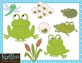 Frog Life Cycle and Pond Free Clip-Art