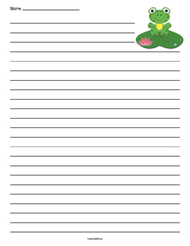 Frog Lined Paper