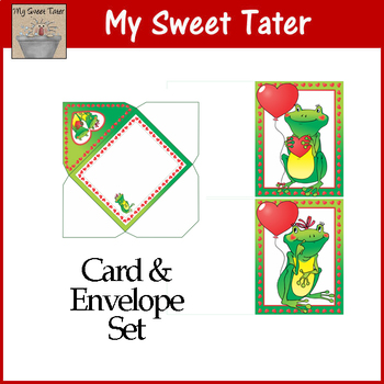 Frog Love Valentine Card Set
