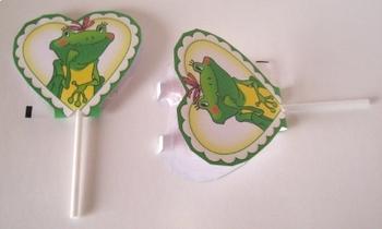 Frog Love Valentine Sucker Covers