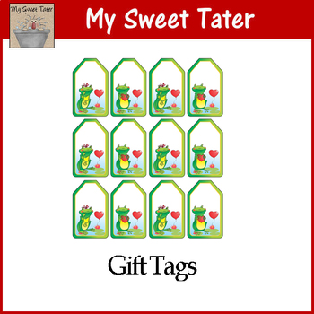 Frog Love Valentine Tags