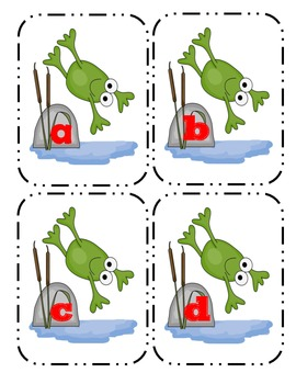 Frog Lowercase Flashcards