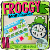 Frog Math Games- Differentiated Number Sense Printables