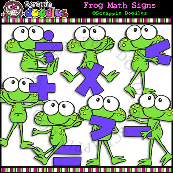 Frog Math Signs