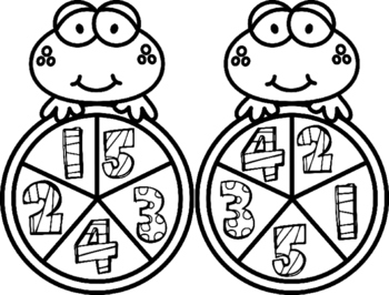 Frog Math Spinners