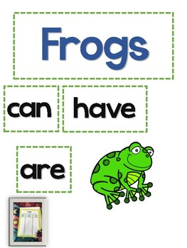 Frog Math and Literacy Unit